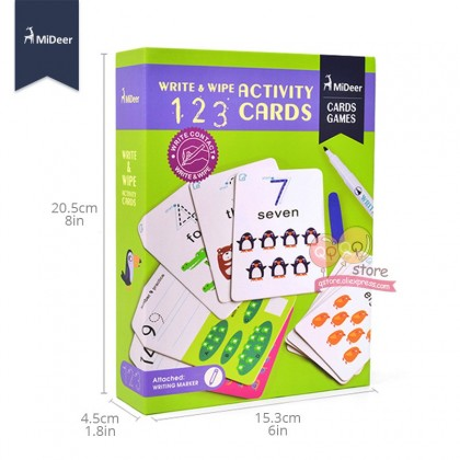 MIDEER Write and Wipe - 123 (Educational Toys for Kids)